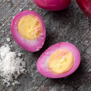 Вареные яйца в маринаде