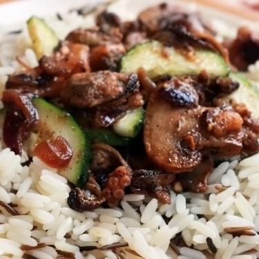 Рис з овочами і морським коктейлем - Рецепт від Pyramida
