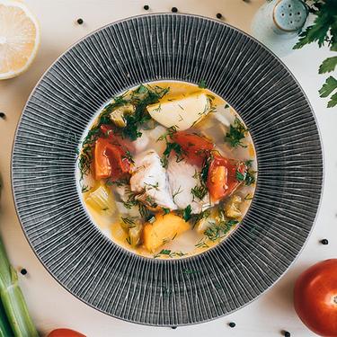 Суп із рибою та селерою - Рецепт від Pyramida