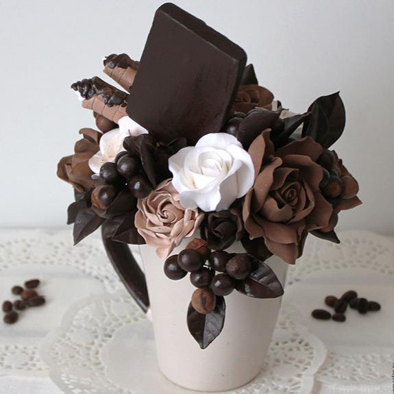 Букет цветов из шоколада - рецепт от Pyramida
