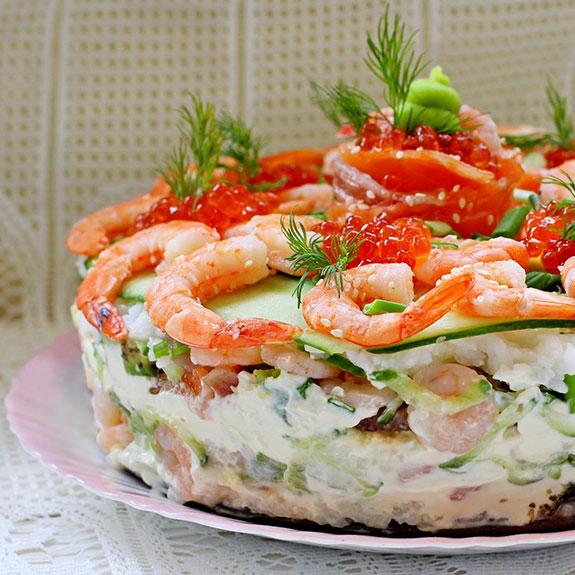 Суші-торт - Рецепт від Pyramida