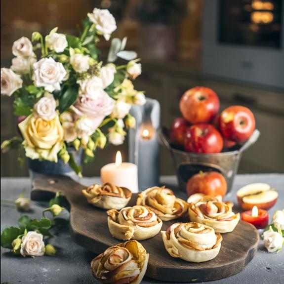 Квіти з яблук - Рецепт від Pyramida