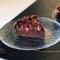 Шоколадний клафуті з ягодами
