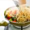Спагетти с тыквой и овощами