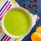 Крем-суп з зеленого горошку та м'яти